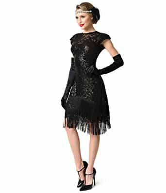 Fringe Flapper Dress 1920s Styles