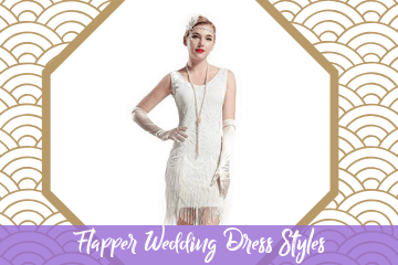 Flapper Wedding Dress Styles