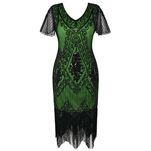 Plus Size Great Gatsby Dresses - Green