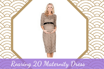 Roaring 20 Maternity Dress • 1920s Great Gatsby Outfits