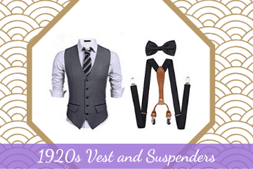 1920s Vest and Suspenders  •  Great Gatsby Outfits