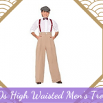 1920s High-Waisted Men's Trousers