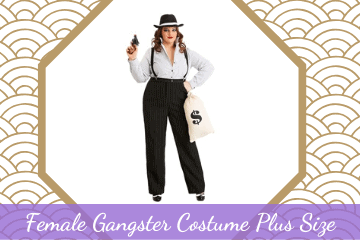 plus size gangster costume for ladies