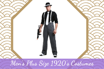 Men's Plus Size 1920's Costumes