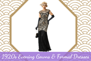 1920s Evening Gowns, Formal & Evening Dresses 20s Style