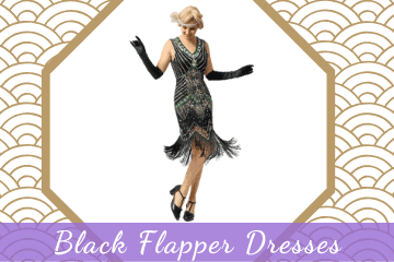 Black Flapper Dresses