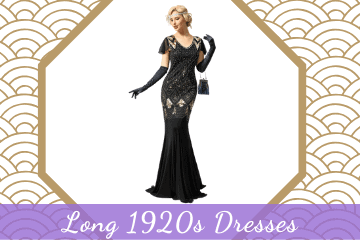 Stunning Long 1920s Dresses, Great Gatsby & Flapper Styles