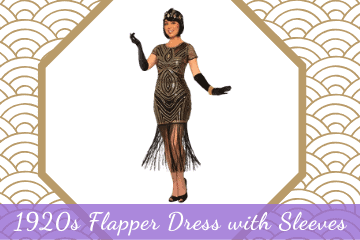 1920s Flapper Dress with Sleeves