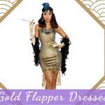 Gold Flapper Dresses