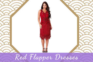 1920s Red Flapper Dresses & Costumes - Stunning Designs & Styles!
