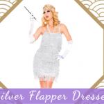 Silver Flapper Dresses