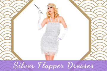 Silver Flapper Dresses