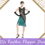 1920s Feather Flapper Dresses
