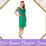 1920s Green Flapper Dresses