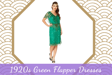 Dazzling 1920s Green Flapper Dresses - Great Gatsby Style