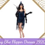 Stunning Blue Flapper Dresses 1920s Style